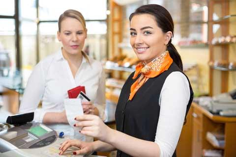 فروشنده خانم - بازاریاب خانم